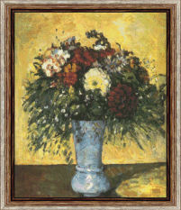 Bouquet in a blue vase paul cezanne 1839 1906